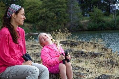 母と娘と自然