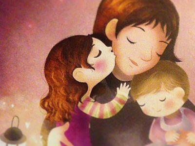 母親の愛情-イラスト
