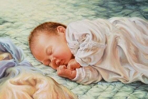 産後40日間-赤ちゃん-昼寝