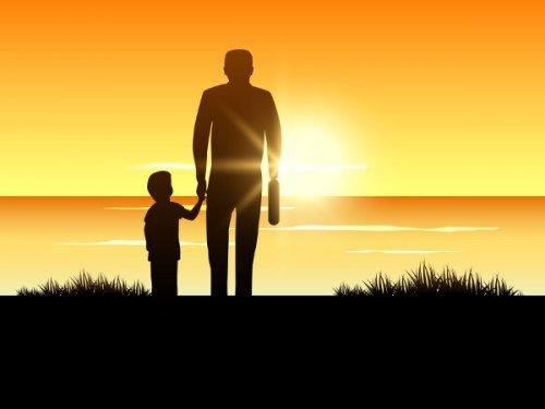 子供に愛情を伝える-baby-father-sunset