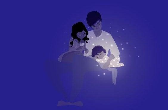 夫婦はお互いのパートナー-親子-イラスト