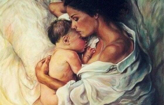 添い寝-母子