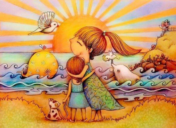 母親と子供の冒険