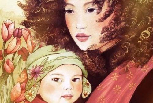 喃語を話し始めた赤ちゃんと母親