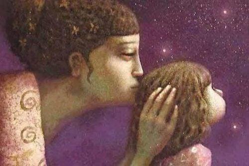 キスする母親