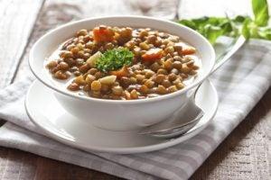レンズ豆の煮込み