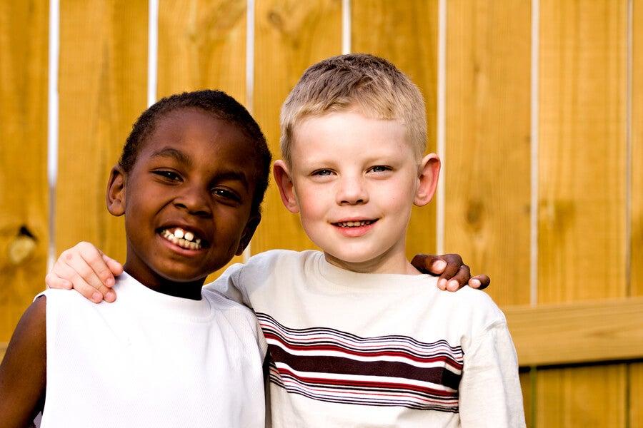 黒人と白人の友人