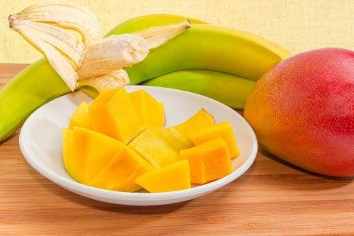 マンゴーとバナナ