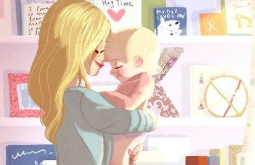 シングルマザーと赤ちゃん