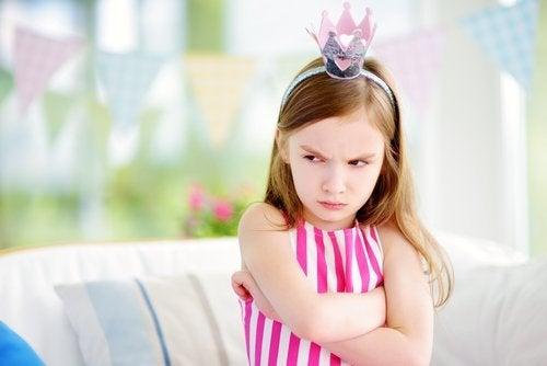 怒っている子供