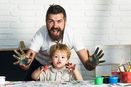 父と子供-芸術