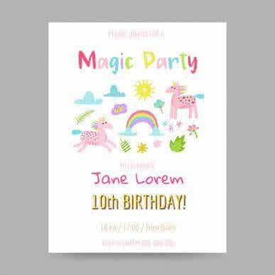 子どものお誕生日会への招待状:5つのアイデアを見てみよう