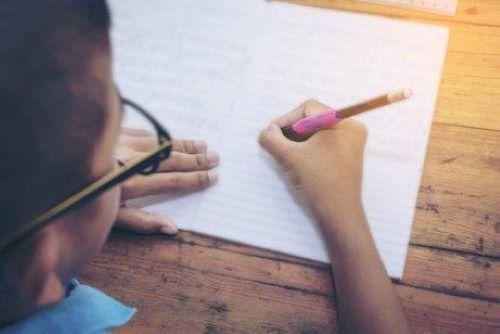 子どもの 筆記 を上達させるための練習