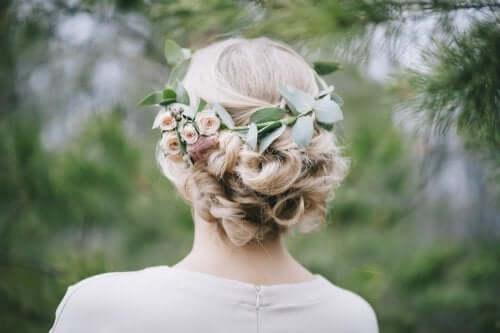 ブライダル・ヘッドピース :花の髪飾り